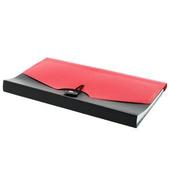 OHOME Tozhca Folder File Kertas Paper Organizer Filing A4 Legal - MS-TZ2012 - Merah