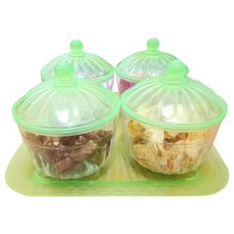 Plastik Mika 250 Gram Source · Toples kue lebaran safira set 4pcs tray .