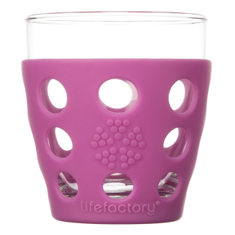 LifeFactory Small Beverage Glass Isi 2 - Huckleberry