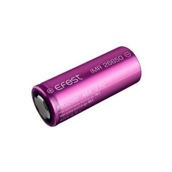 Harga Efest IMR 26650 Battery 5000mAh 3.7V 45A with Flat Top