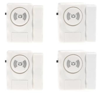 Entri sistem peringatan alarm keamanan rumah dengan jendela pintu sensor magnet untuk 4 buah ...