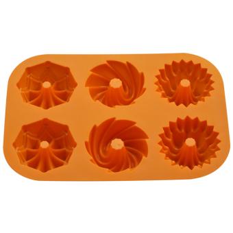 Detail Gambar Griya Cetakan Kue / Puding Garland Bundt - Orange Terbaru
