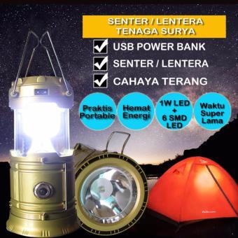 Cara Pengisian Berbeda Hitam Solar Lantern Lampu Lentera Super Unik & Super Terang dengan 36 lampu