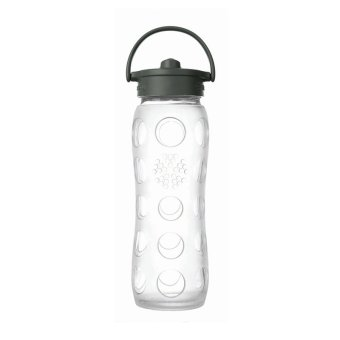 LifeFactory 16oz Glass Bottle Straw Cap 475ml - Transparent