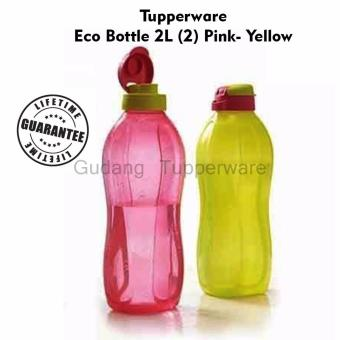 Harga Tupperware Eco Bottle 2L (2) Pink- Yellow