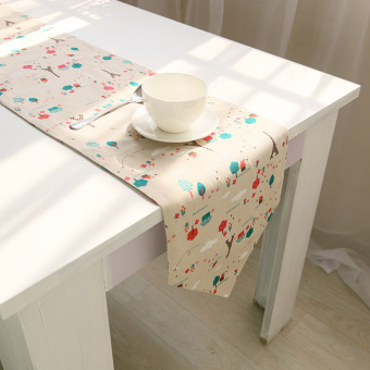 Harga High Quality 1x C:30*200 Pastoral national wind retro cotton Coffee table flag