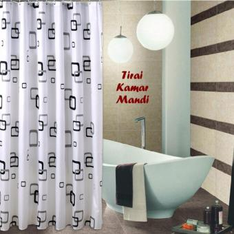 Harga Hokky Shower Curtain Waterproof Kotak