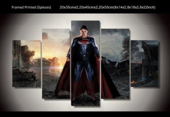 Harga 5 Pieces Printed Superman Painting Room Decoration Print Poster Picture Canvas Painting For Living Room Decor