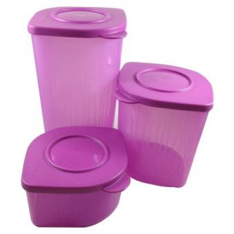 Harga Tupperware - Fresh N Fancy - 3 pcs - Ungu
