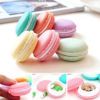 4ever 6pcs Mini Earphone SD Card Jewelry Macarons Bag Storage Box Case Carrying Pouch