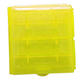 Harga New Hard Plastic Blue Green Case Cover Holder AA / AAA Battery Storage Box Yellow