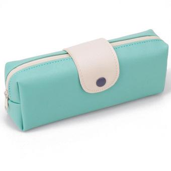 Harga Portabel Kulit Tas Kosmetik Rias Kuas Pensil Penyelenggara Kasus Kantong Ruangan Biru