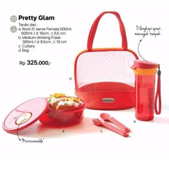 Harga Tupperware Pretty Glam - Lunch Box set