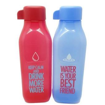 Harga Tupperware Eco Bottle Square 500ml - Merah & Biru