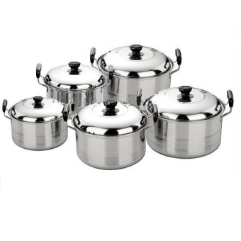 Harga Best Seller Panci Exclusive 5 Set - Stainless