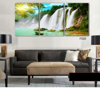 40X60CM3 Pieces Wall Art Painting Canvas Painting Strong Waterfall Natural Beauty Painting Modern Picture Home Decor