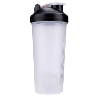 Harga Jo.In 600ml Sports Gym Shake Cup Plastics Bottle with a Ball (Black) - Intl