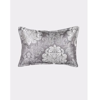 GH Home Ideas Sarung Bantal 30cm x 45cm Flowers - Abu