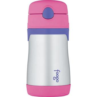 Harga Thermos FOOGO BS535 PK Vacuum Insulated Stainless Steel Straw Bottle -Pink Ungu