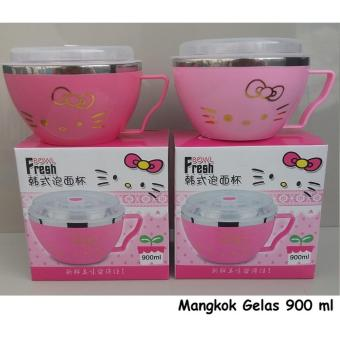 Harga CNM Fresh Bowl Mangkok Tangkai Stainless Hello Kitty