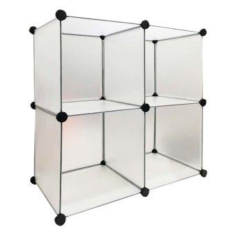 Galeri Gambar StarHome Lemari Penyimpanan Serbaguna 4 Sekat Rak Serbaguna Kotak Putih Lengkap .