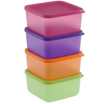 Harga Tupperware Small Summer Fresh - 4 Buah - Multicolor
