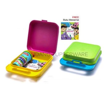 Harga Tupperware Kiddie Fun Box (Lunch Box Set)