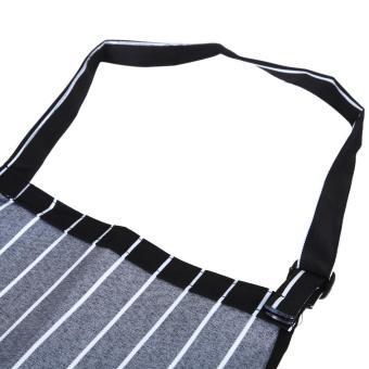 Galeri Produk Garis Oto celemek dengan 2 saku pelayan dapur koki masak baru .