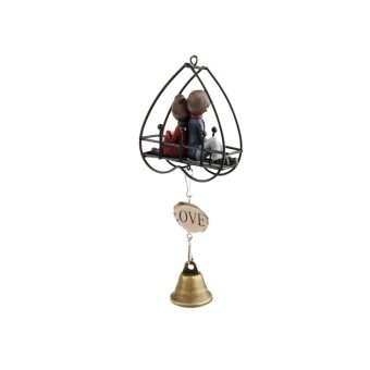 MagiDeal Windbell rumah kolam taman cinta dua hati dekorasi lonceng angin gantung hadiah .