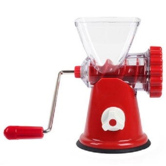 Harga HS Manual Meat Grinder Kitchen Hand Crank Sausage Stuffer Pasta Maker - Merah