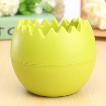 Harga Egg Shape Double Layer Water Storage Plastic Plant Flower Pot For Home Office - intl