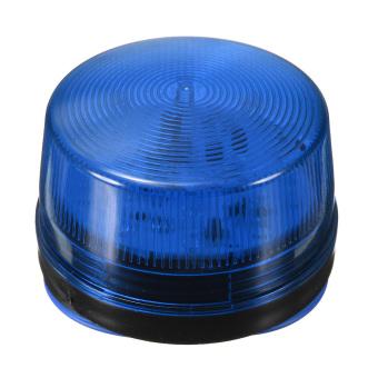 12 V Sinyal Peringatan Alarm Keamanan Strobo Lampu Berkedip Memimpin Biru Muda- intl .