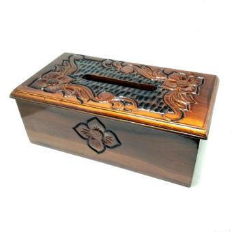 ... tempat tissue kayu jati ukir motif bunga ts001 kota tissue box tissue tempat
