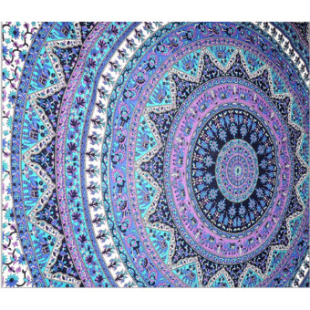 Lgpenny Indian Mandala Round Tapestry Wall Hanging Beach Throw Towel Yoga Mat Boho Decor - intl ...