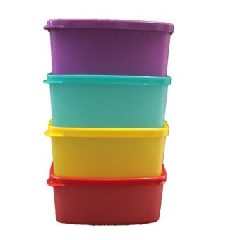 Harga Tupperware Small Square Round 4pcs