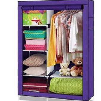 Harga Cloth Rack With Cover Rak Baju Multifungsi Multifunction Wardrobe - Purple