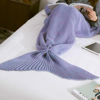 Ai Home Knitted Mermaid Tail Blanket Adult Bed Sofa Sleeping Bag 180X90cm 1 .