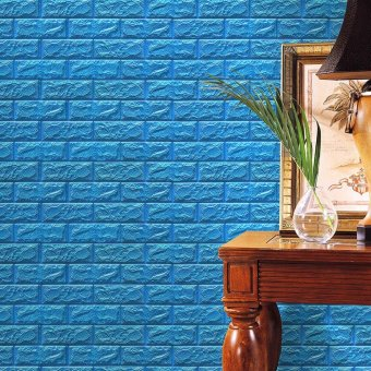 coconie PE Foam 3D Wallpaper DIY Wall Stickers Wall Decor Embossed Brick Stone - intl