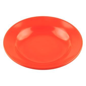 Piring Makan Cekung 8 inch Orange (Isi 3 pcs) - Melamine Glori G2008ORG