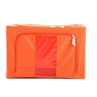 Oxford Box Steel Frame Fabrics Foldable Storage Box - 66 L - Pure Color Orange