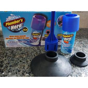 Ai Home Plumber's Hero Drain Unclogging Kit Sewer Drainage (Blue) - intl