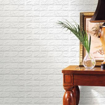 CocolMax PE Foam 3D Wallpaper DIY Wall Stickers Wall Decor Embossed Brick Stone - intl