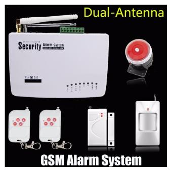 New Intercom home security wireless GSM alarm system 900/1800/1900MHZ with ,english voice hot sell - intl ...