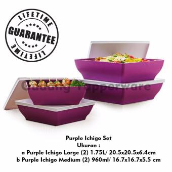 Tupperware Purple Ichigo Set 4pcs .