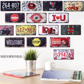 Metal Wall Décor Tin Sign Plaque For Elite Class Decor Enthusiasts - intl - 2