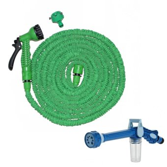 Harga Magic X-Hose Auto Expandable 15 m with Connector Type A - Selang Air Fleksibel - Hijau Bundling Ez Jet Water Canon