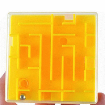 Cocotina Money Maze Coin Bank 3D Puzzle Box Gift Holder Prize Storage Yellow .