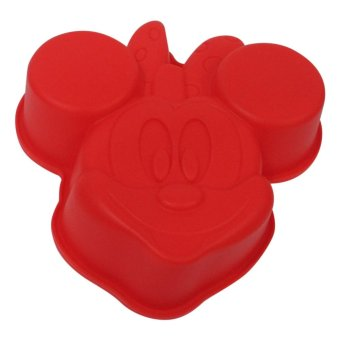 Harga Mitra Loka - Silicone Cakemold Minnie Mouse Cetakan Puding 20,8 x 20,6cm - Merah