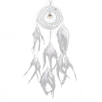 niceEshop Dream Catcher Dreamcatcher Feathers with a Small Bell Wall Hanging Decor,White