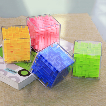 Cocotina Money Maze Coin Bank 3D Puzzle Box Gift Holder Prize Storage Blue .